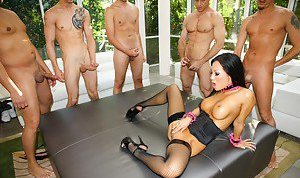Interracial Gangbang Asian Pics